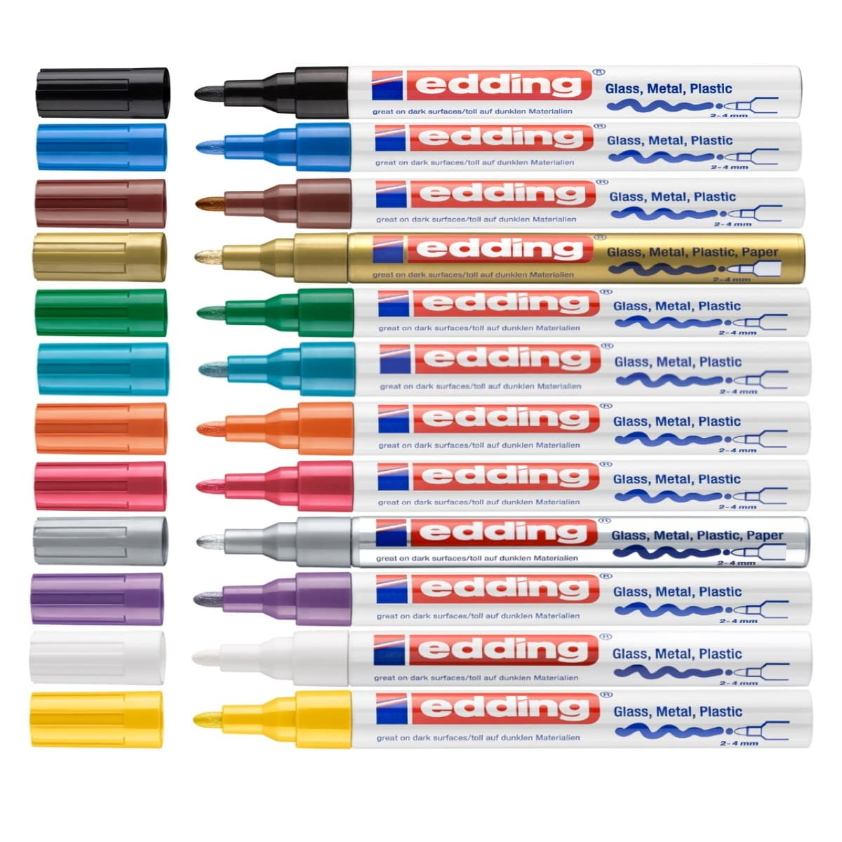 edding 750 Creative Gloss Paint Marker, 2-4mm Bullet Tip, per piece