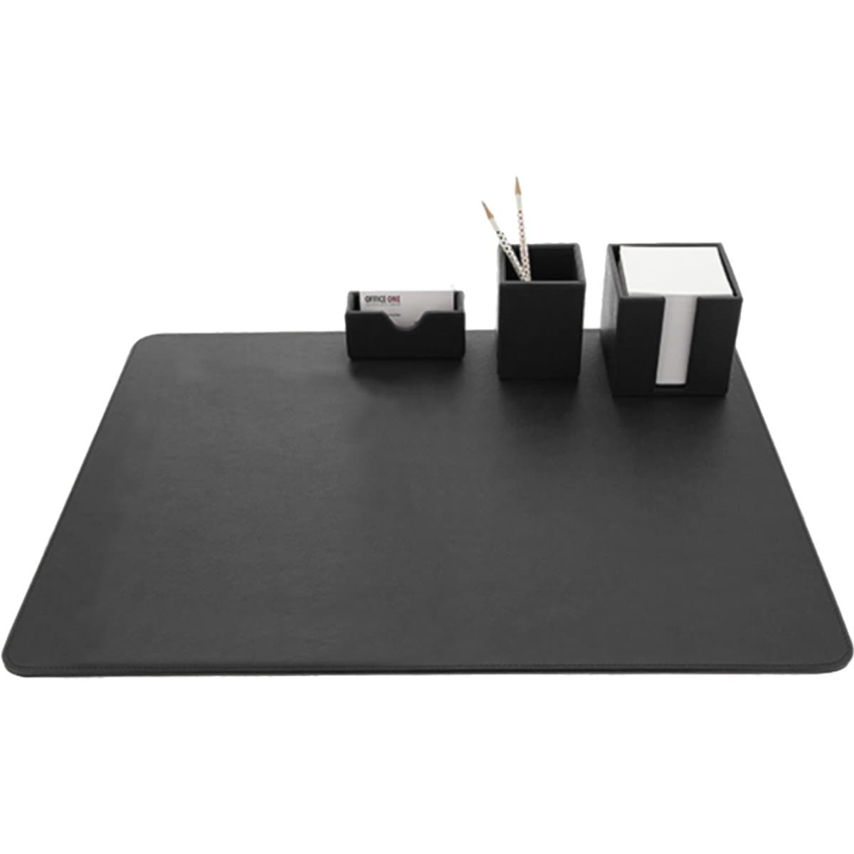 Konrad S. Desk Set, PU Leather, Black