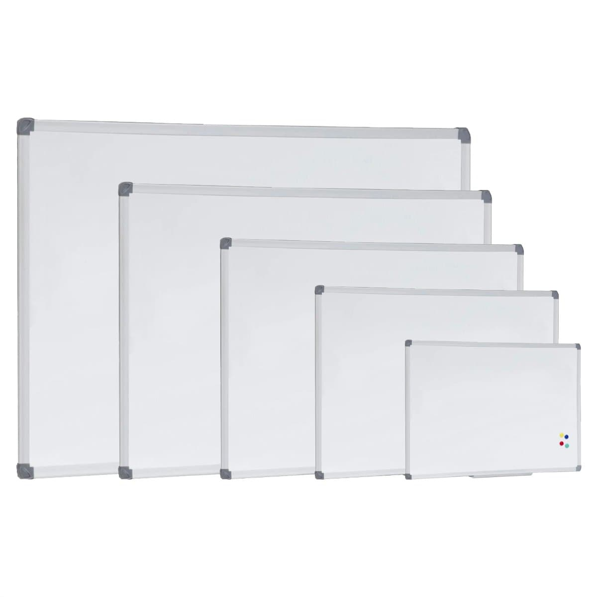 Magnetic White Board with Pen Tray, Aluminum Frame,  45 x 60 cm