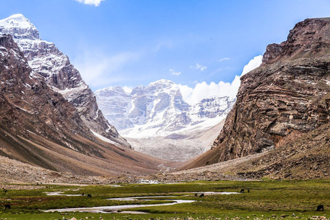 : A valley we camped in at the base of Peak Engels in the former USSR