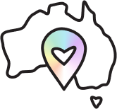 Stylised Map of Australia