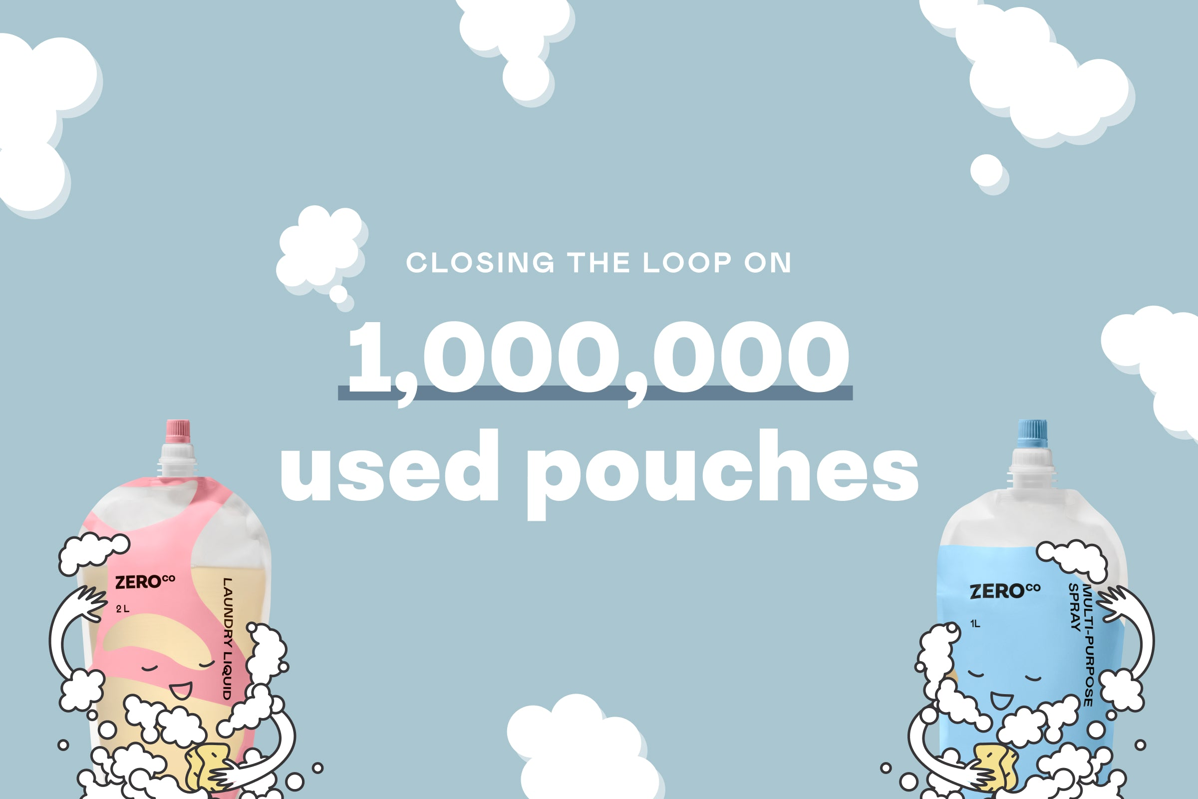 Closing the loop on 1,000,000 used pouches