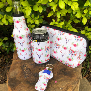 4 Piece Gift Sets - White Bull Skull Pattern