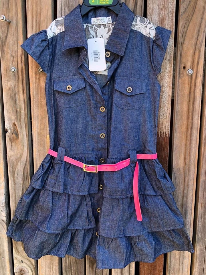 Denim & Lace Dress