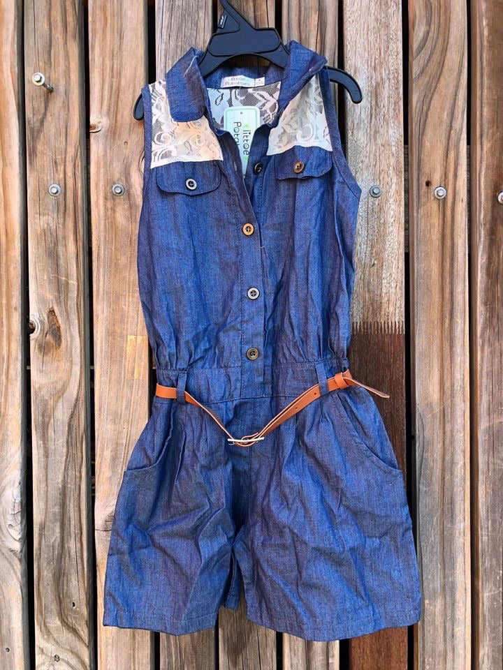 Denim & Lace Shortalls