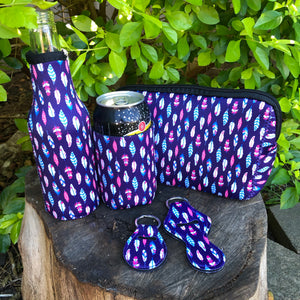 5 Piece Gift Sets - Blue Feather Pattern