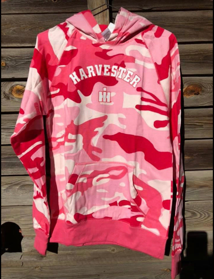 CASE BRAND Pink Camo Hoodie - Youth XL