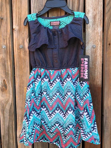 Aztec Design Girls Dress