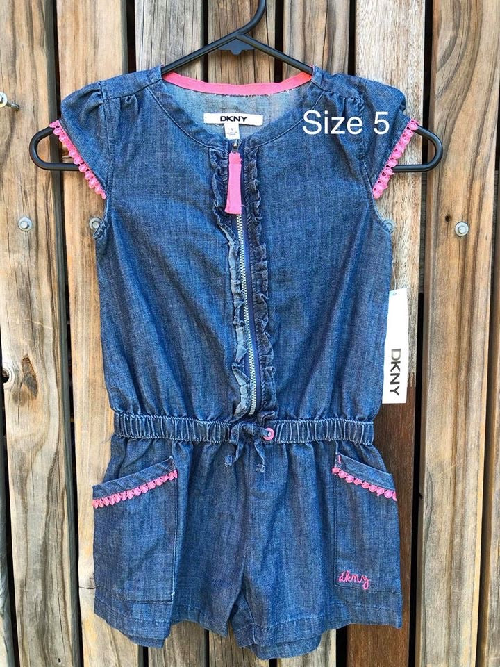 DKNY Denim Shortalls