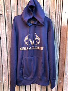 Men's Realtree Navy Blue Hoodie
