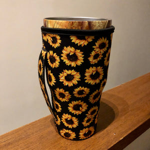 Sunflower - 30 oz Kozie Cover with Handle