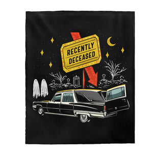 """RECENTLY DECEASED"" Plush Blanket"