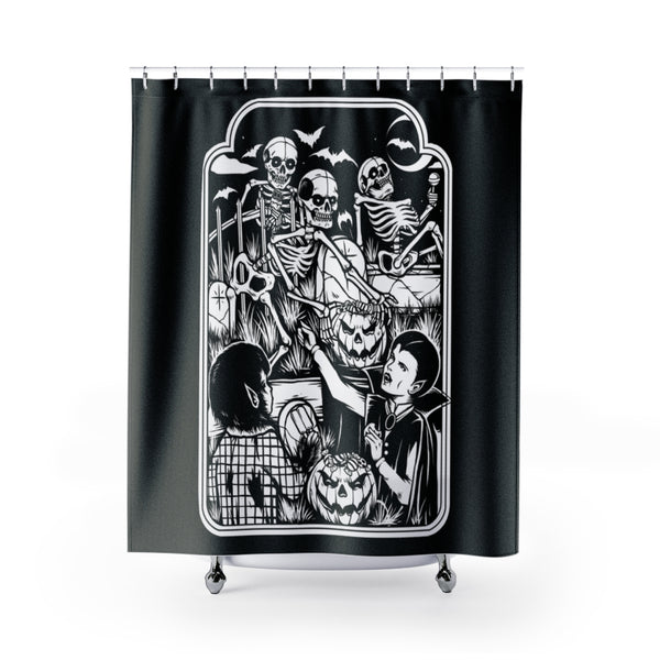 """GRAVEYARD BASH"" Shower Curtain"