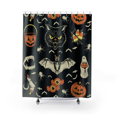"""OCTOBER"" Shower Curtain"