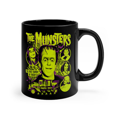 """Munsters"" Black mug 11oz"