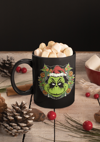 """METAL GRINCH"" Black mug 11oz"