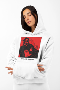 """CHILLIN, KILLIN"" (RED) Unisex hoodie"