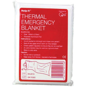 Help-It Disposable Silver Emergency Rescue Blanket