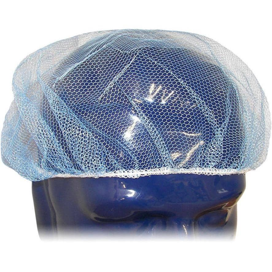 Blue Visual Synthetic Netting Hair Cover