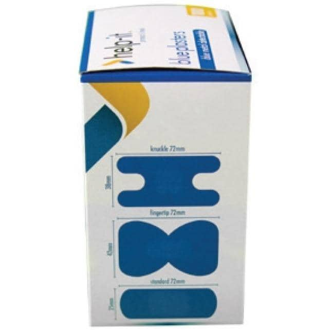 Help-It Blue Metal Detectable Plasters - Mixed Packs