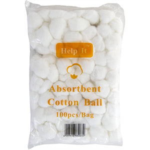 Help-It Cotton Wool Balls - Bag of 100