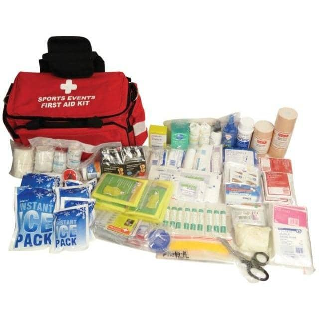 Help-It Comprehensive Sports Events First Aid Kit in First Responder Bag