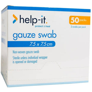 Help-It Gauze Swabs 2's Sterile Non-Woven