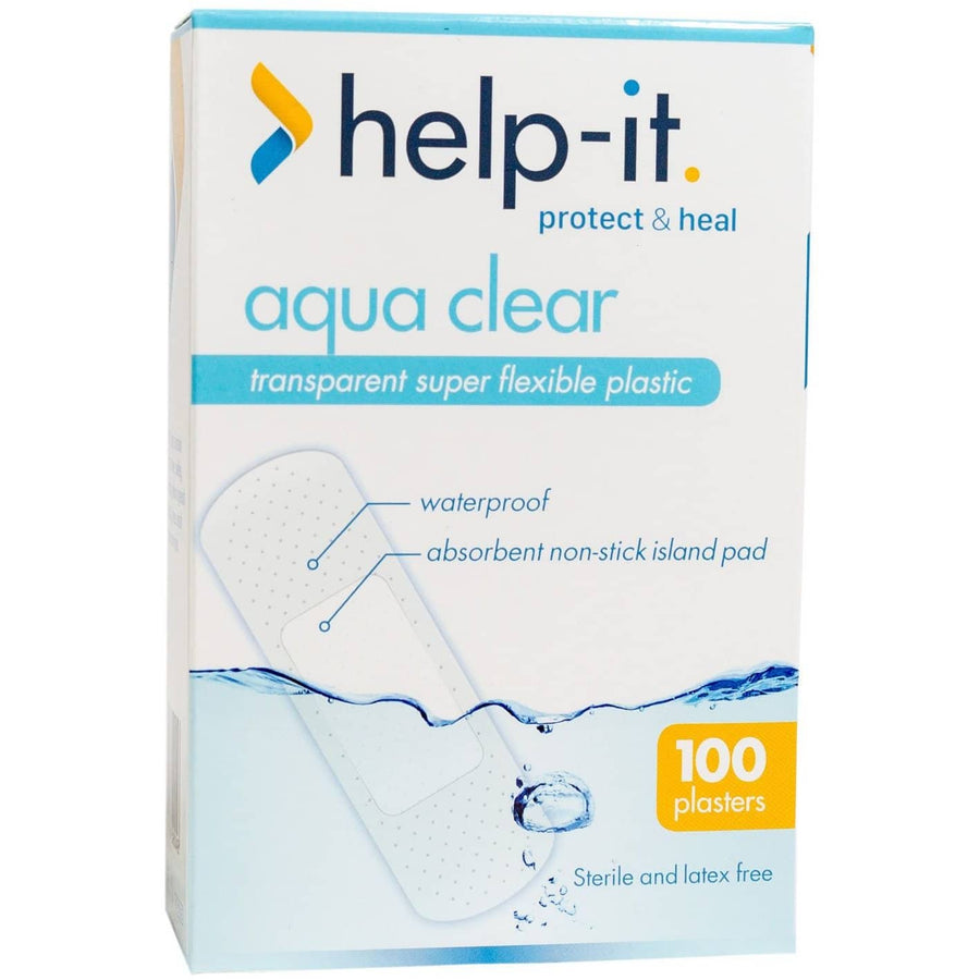 Help-It Aqua Clear Waterproof Plastic Extra-Wide Plasters