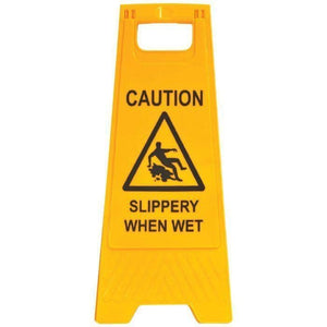 CAUTION SLIPPERY WHEN WET - A-frame Sign