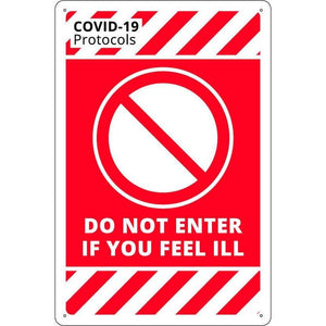 Covid-19 & Social Distancing Signs - DO NOT ENTER
