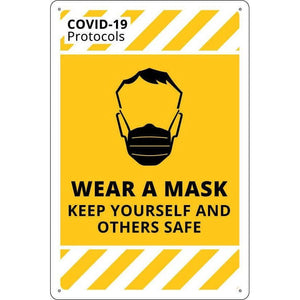 Covid-19 & Social Distancing Signs - WEAR A MASK
