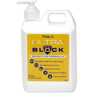 Help-It Ultra-Block Sensitive Sunscreen SPF50+
