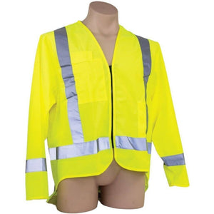 Ironwear Hi Vis Day/Night Long Sleeve Safety Vest - Yellow