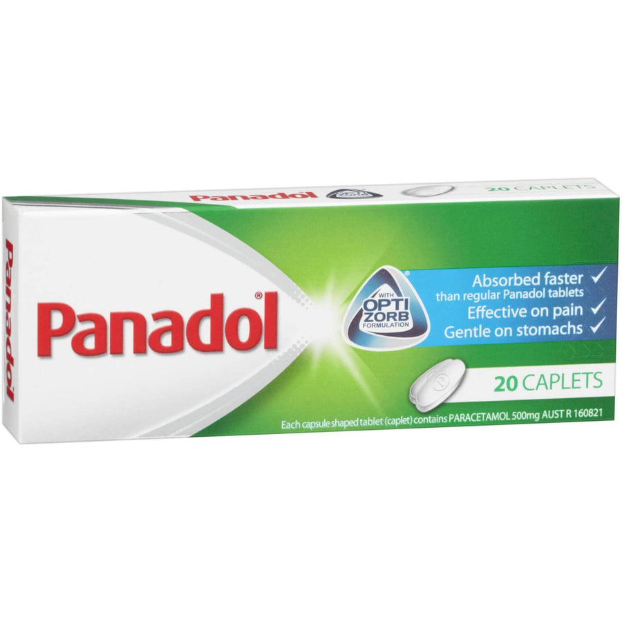 Panadol Optizorb Caplets, Pack of 20