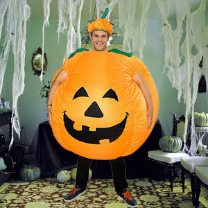 Funnyinflatable Halloween Easter  Inflatable Costume Pumpkin Blow Up Suit Cosplay Party Toy Fancy Dress With Hat For Adults