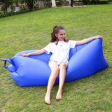 Funnyinflatable Lounger Air Sofa Inflatable Lounge Lazy Sofa Bag Couch Sleeping Hammock Pool Float Portable for Indoors & Outdoors Camping Travel Beach Waterproof