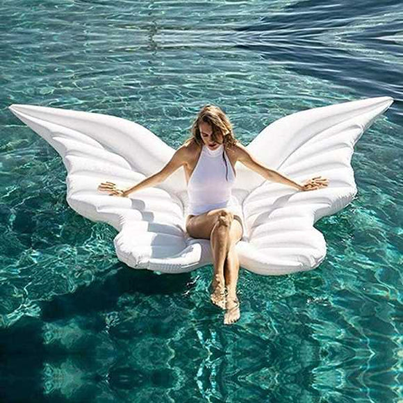 Funnyinflatable Swimming Pool Giant Water Hammock Inflatable Butterfly Wings Beach Ring Floating Raft Angel Wing Bed Mounts Party FunnyToys