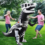Funnyinflatable Halloween Jurassic World Inflatable Costume T-Rex Full Body Fancy Dress Skeleton Blow Up Suit Dinosaur Cosplay Party Outfit For Kids Adults