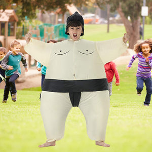 Funnyinflatable Halloween Sumo Wrestler Inflatable Costume Wrestling Full Body Suit Cosplay Party Blow Up Jumpsuit Fancy Dress For Kids Adults