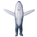 Funnyinflatable Halloween Shark Inflatable Costume Cosplay Party Blow Up Suit Funny Cartoon Animal Fancy Dress Full Body Clothes For Adults