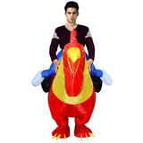 Funnyinflatable Halloween Cock Ride On Inflatable Costumes Cosplay Party Toy Animal Blow Up Suit Rider Fancy Dress for Adults