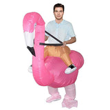Funnyinflatable Halloween Easter Ride On Inflatable Costume Animal Cosplay Party Blow Up Suit Flamingo Fancy Dress For Adults