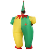 Funnyinflatable Halloween Funny Fat Clown Inflatable Costume Cosplay Party Toy Christmas Fancy Dress Full Body Blow Up Suit With Hat For Adults