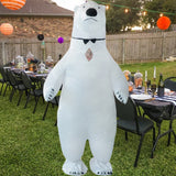Funnyinflatable Halloween Polar Bear Inflatable Costume Cosplay Party Toy Blow up Suit Full Body Jumpsuit Fancy Dress For Adult