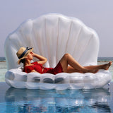 Funnyinflatable  Beach Blow Up Bed Giant Shell Shape  Inflatable Water Sofa Floating Air Raft Hammock Cushion for Swimming Pool Party Toy