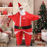 Funnyinflatable Santa Claus Inflatable Costume Christmas Party Blow up Suit Cosplay Full Body Jumpsuit Fancy Dress For Kids Teens Adults