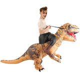 Funnyinflatable Halloween Jurassic World Ride On Inflatable Costume T-Rex Fancy Dress Dinosaur Blow Up Suit Tyrannosaurus Rex Cosplay Party Toy For Adults