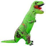 Funnyinflatable Halloween Jurassic World Inflatable Costume T-Rex Blow Up Suit Multicolor Dinosaur Fancy Dress Tyrannosaurus Rex Full Body Clothes Cosplay Party Toy For Kids Adults