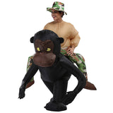 Funnyinflatable Halloween Gorilla Ride On Inflatable Costume Monkey Cosplay Party Toy Orangutan Fancy Dress Blow Up Suit With Hat For Adults
