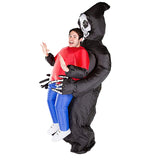 Funnyinflatable Halloween Ghost Inflatable Costume Alien Cosplay Party Blow Up Suit Grim Reaper Full Body Fancy Dress Frankenstein Pick Me Up Clothes For Adults
